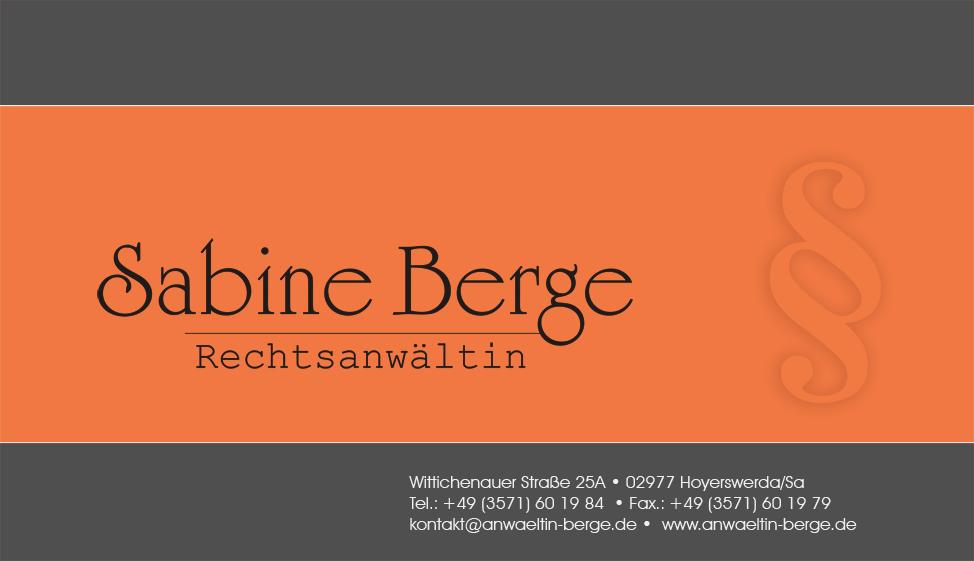 Visitenkarte Sabine Berge